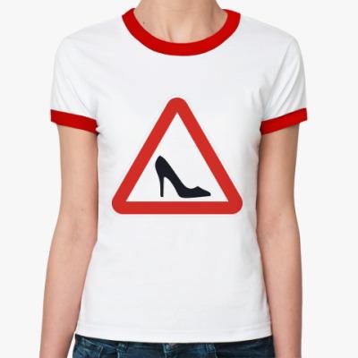Женская футболка Ringer-T Знак Туфелька