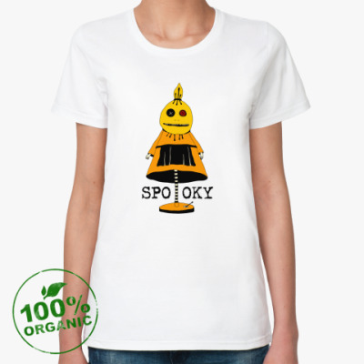 Женская футболка из органик-хлопка  'Страшила'