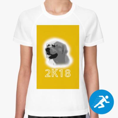Женская спортивная футболка Год собаки