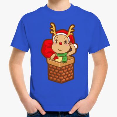 Детская футболка Олененок Санты