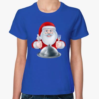 Женская футболка Food Santa