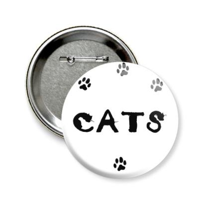Значок 58мм Cats