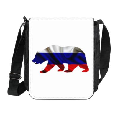 Сумка на плечо (мини-планшет) Русский медведь