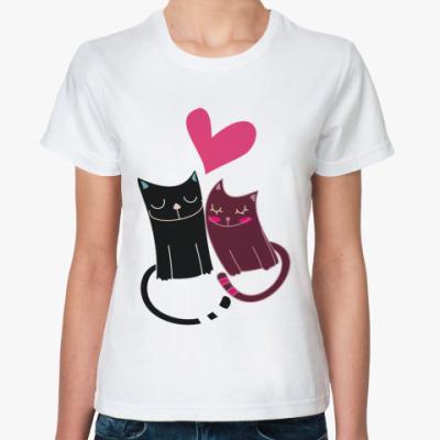 Классическая футболка Милые котики