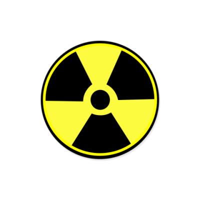 Виниловые наклейки Радиация