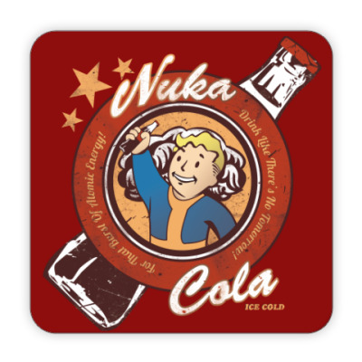 Костер (подставка под кружку) Fallout Nuka Cola Vault Boy