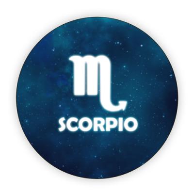 Костер (подставка под кружку) Знак зодиака. Скорпион