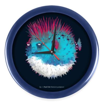 Настенные часы Брутальная рыба панк Punk fish