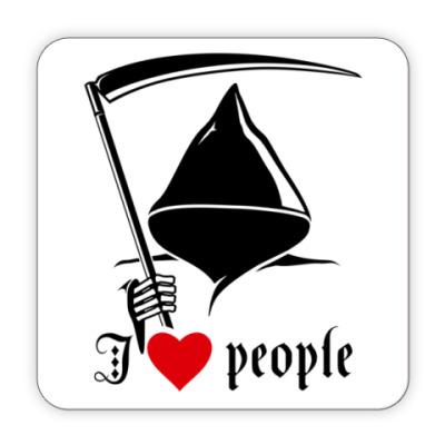 Костер (подставка под кружку) Я люблю людей
