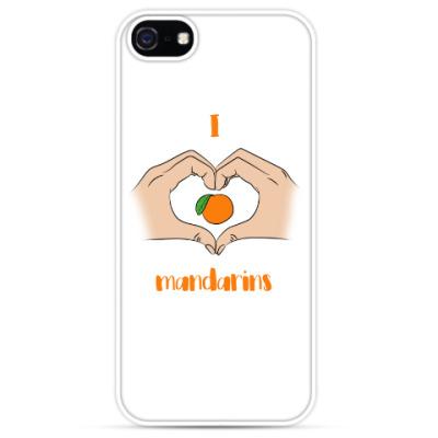 Чехол для iPhone Я люблю мандарины