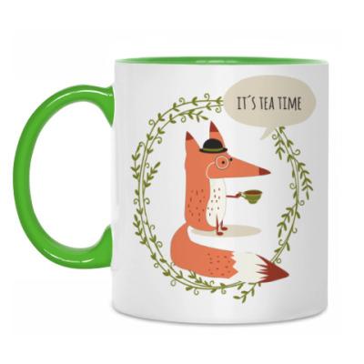 Кружка Лиса и чай
