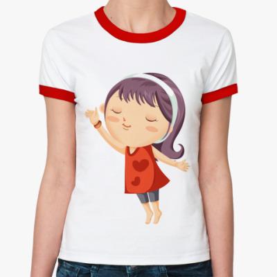 Женская футболка Ringer-T Девочка