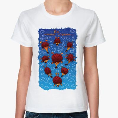 Классическая футболка  Еж птица гордая