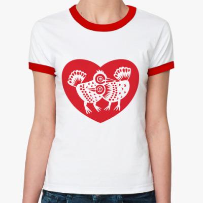 Женская футболка Ringer-T Птички