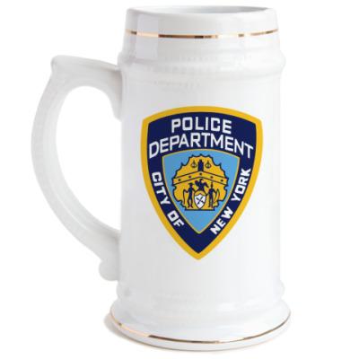 Пивная кружка NYPD