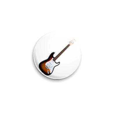 Значок 25мм Fender Strat