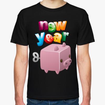 Футболка Новый Год: Год Свиньи