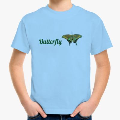 Детская футболка Бабочка Парусник - Махаон