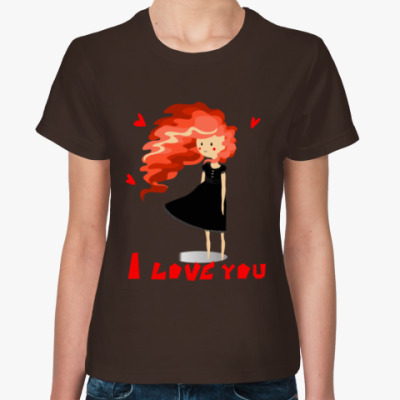 Женская футболка Love