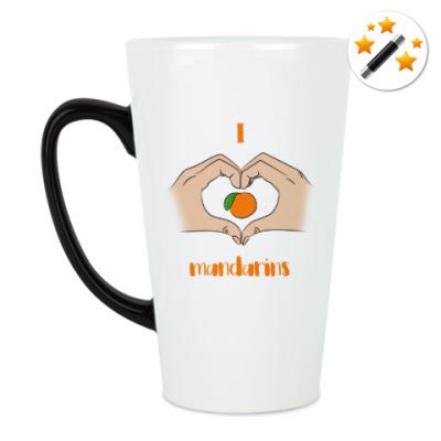Кружка-хамелеон Я люблю мандарины