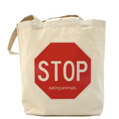 Сумка Stop eating animals.