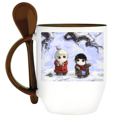 Кружка с ложкой Merlin
