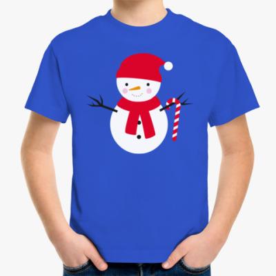 Детская футболка Милый Снеговик