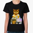 Классическая женская футболка Верим в кота