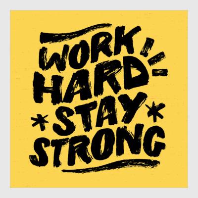 Постер Работа тяжёлая, но не сдавайся