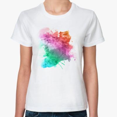Классическая футболка Акварель