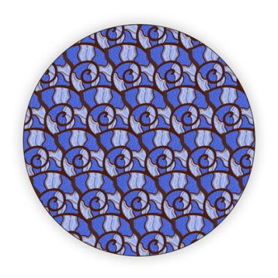 Костер (подставка под кружку) Синие ракушки