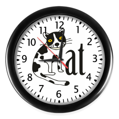 Настенные часы Котик