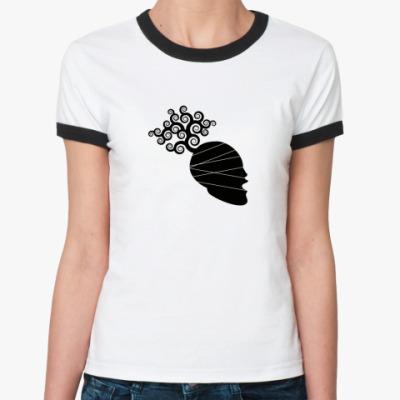 Женская футболка Ringer-T 'Голова'