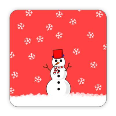Костер (подставка под кружку) Снеговик