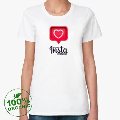 Женская футболка из органик-хлопка ИНСТА-ИНСТИНКТ