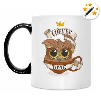 Кружка-хамелеон Кофейная сова