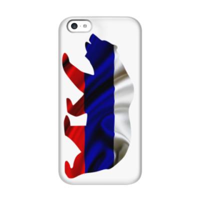 Чехол для iPhone 5c Русский медведь