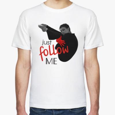 Футболка  Just follow me