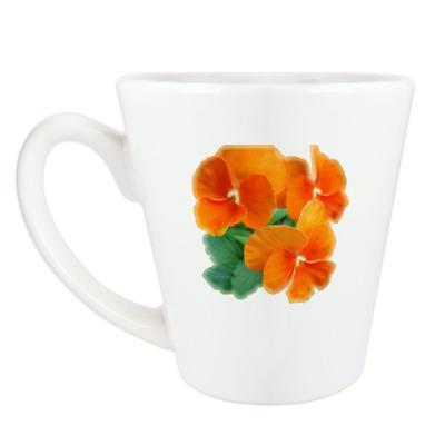 Чашка Латте виола