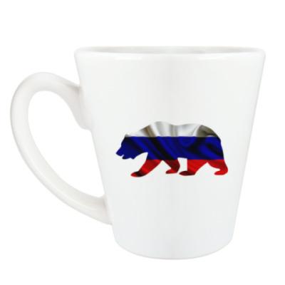 Чашка Латте Русский медведь
