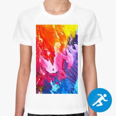 Женская спортивная футболка Яркие краски