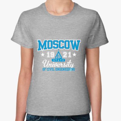 Женская футболка  майка МГСУ