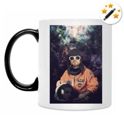 Кружка-хамелеон Kurt Cobain Astronaut