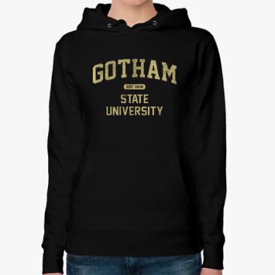 Женская толстовка худи Gotham University