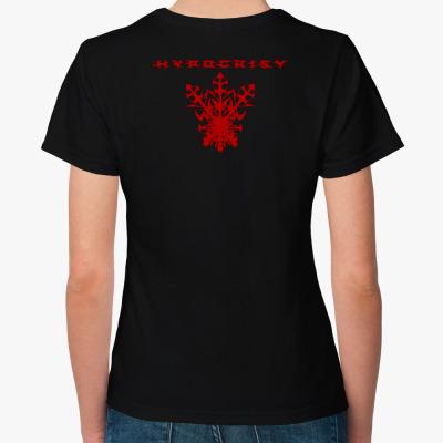 """Hypocrisy """"VIRUS"""", Женская футболка, черная"""