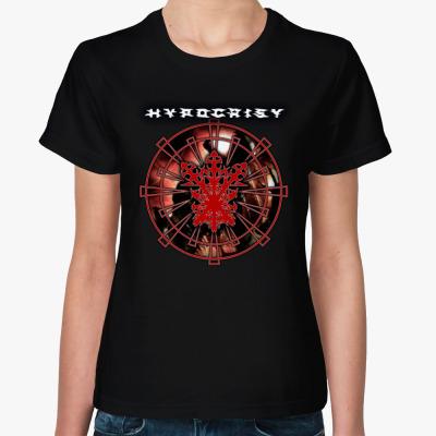 "Женская футболка Hypocrisy ""VIRUS"", Женская футболка, черная"
