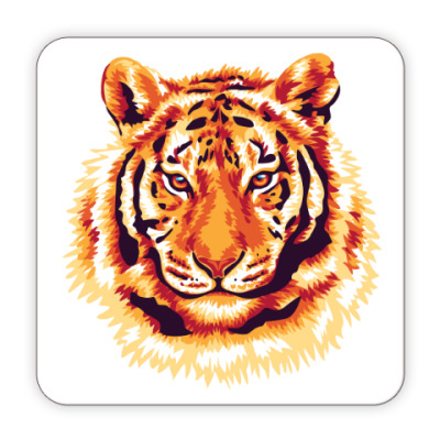 Костер (подставка под кружку) Тигр