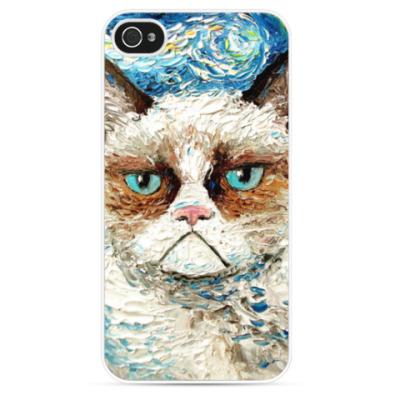 Чехол для iPhone Grumpy cat (угрюмый кот Тард)
