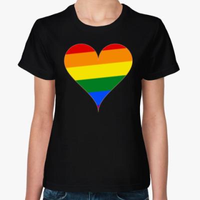 Женская футболка Rainbow Heart