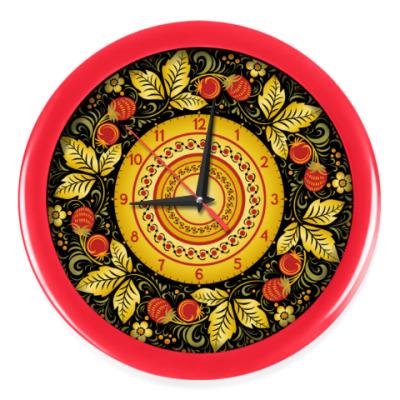 Настенные часы Хохлома